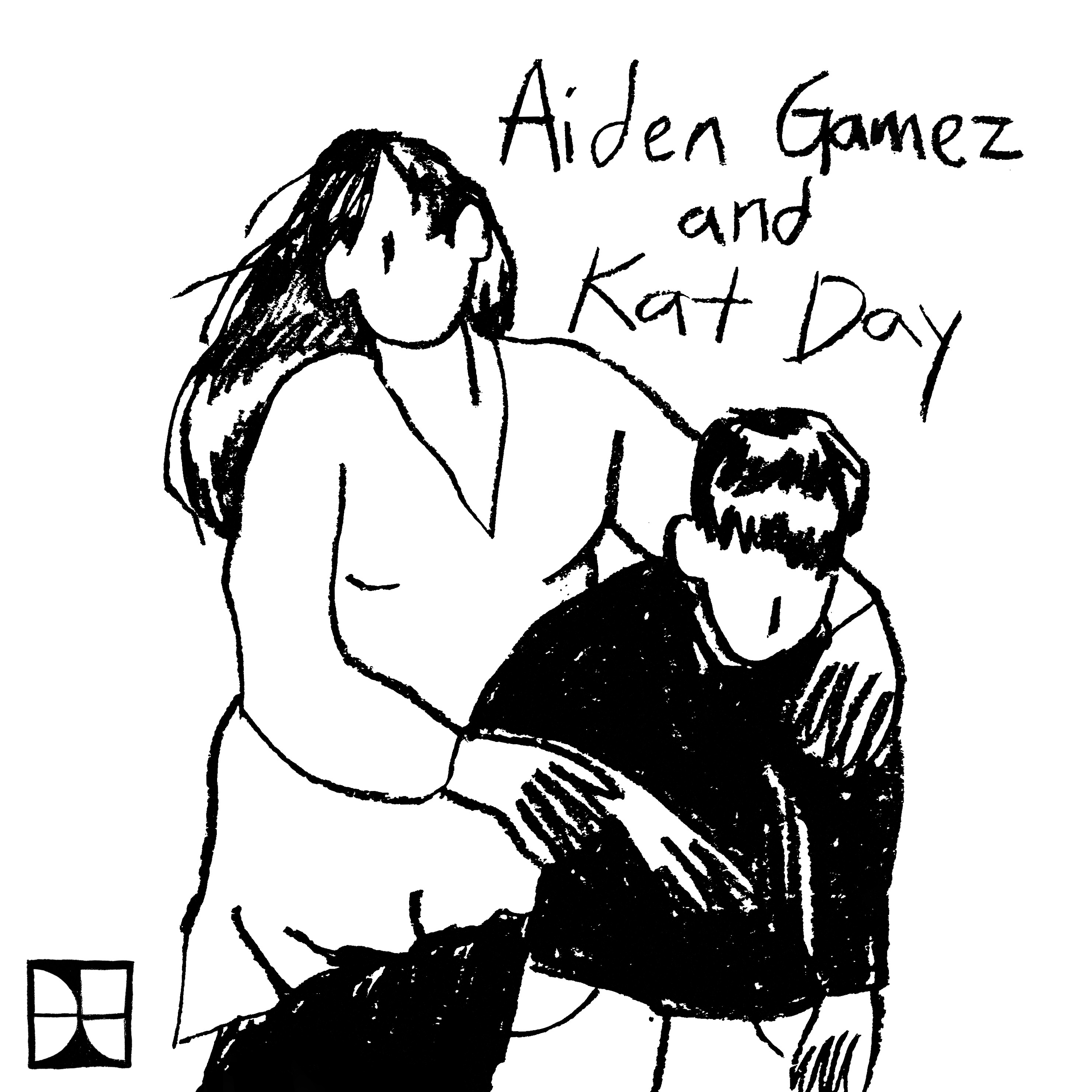 Sketch of Aiden Gamez and Kat Day